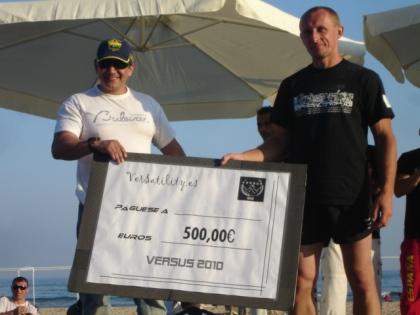 El ganador del torneo de campeones se llevó 500 euros